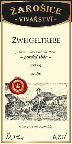 Zweigeltrebe, pozdní sběr, 2016